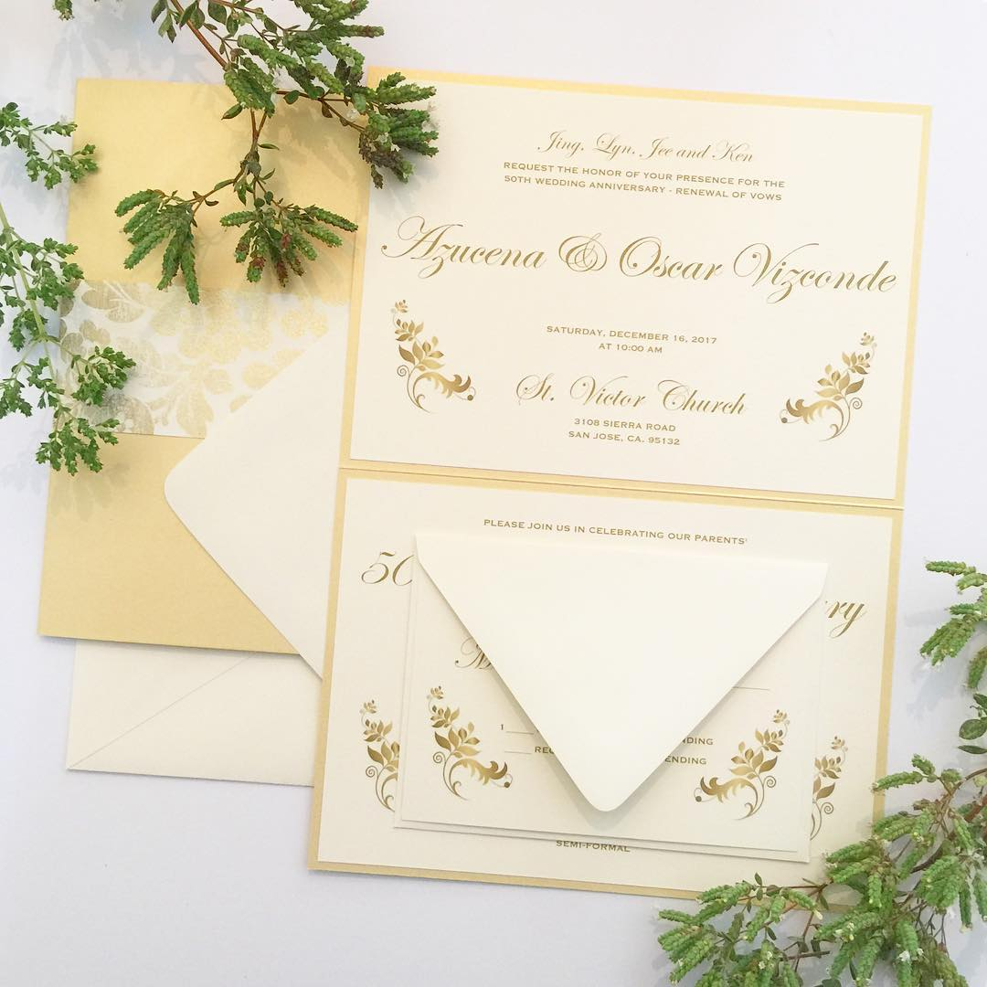 This 50th wedding anniversary invitation design couldnt have unfolded punhellip